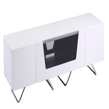 Large TV Stand With Two Shelf And One Drawer White-6
