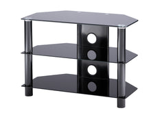 Medium size D-shaped curved design 3 Toughened glass shelf TV Stand-2