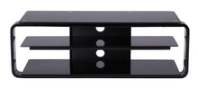 Round Frame Mounted Three Shelf TV Stand Black 3