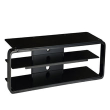 Strengthen Glass Shelf Bracket Attachment TV Stand Black