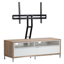 Small Complete wooden Structure With 4 storage Racks TV Stand-white-3