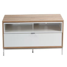 Small Complete wooden Structure With 4 storage Racks TV Stand-white
