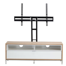 Small Complete wooden Structure With 4 storage Racks TV Stand-white-1