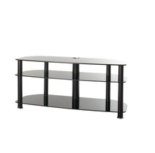 Full Glass with three strong legs smooth corner TV stand