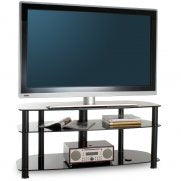 FullGlass with three strong legs smooth corner TV stand-6