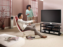 Small but spacious Full glass TV cabinet-4