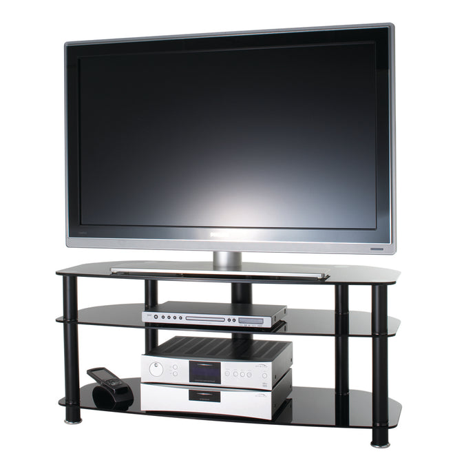 Modern all glass TV stand