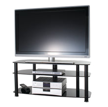 FullGlass with three strong legs smooth corner TV stand-8