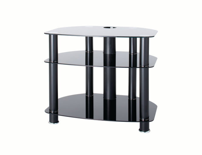 FullGlass with three strong legs smooth corner TV stand