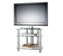 FullGlass with three strong legs smooth corner TV stand-2