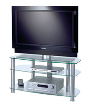 FullGlass with three strong legs smooth corner TV stand-4
