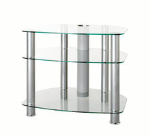 FullGlass with three strong legs smooth corner TV stand-1
