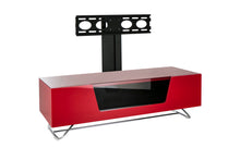 Steel frame Sturdy Legs Medium TV Cabinet Red 1