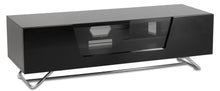 Steel frame Sturdy Legs Medium TV Cabinet-Black-2