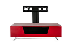 Steel frame Sturdy Legs Medium TV Cabinet Red 2
