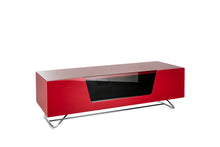 Steel frame Sturdy Legs Medium TV Cabinet Red 3
