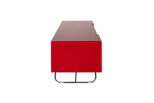 Steel frame Sturdy Legs Medium TV Cabinet Red 5
