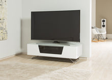 Steel frame Sturdy Legs Medium TV Cabinet White
