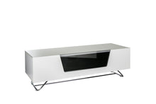 Steel frame Sturdy Legs Medium TV Cabinet White 1