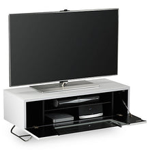 Steel Legs IR Friendly Door TV Stand White-4