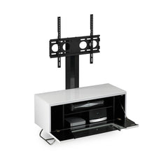 Steel Legs IR Friendly Door TV Stand White-3