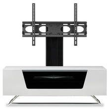 Steel Legs IR Friendly Door TV Stand White-2