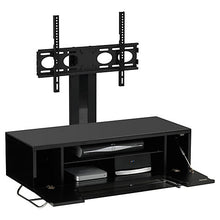 Steel Legs IR Friendly Door TV Stand Black-2