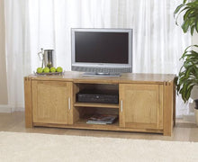 Stella Oak TV Unit With Cabinets And Shelves-1