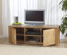 Stella Oak TV Unit With Cabinets And Shelves-2