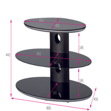 Strengthen Glass Triple Shelf TV Stand-2