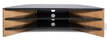 Toughened Glass Surface Curved TV Stand-1