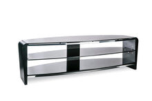 White Finish Bigger Size TV Stand Black 2