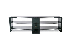 White Finish Bigger Size TV Stand Black 3