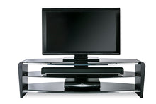 White Finish Bigger Size TV Stand Black