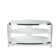 White Finish Bigger Size TV Stand white with white Glasss-2