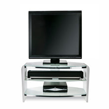 White Finish Bigger Size TV Stand white with white Glasss-1