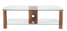 Wooden legs Toughened glass shelves TV cabinet-9