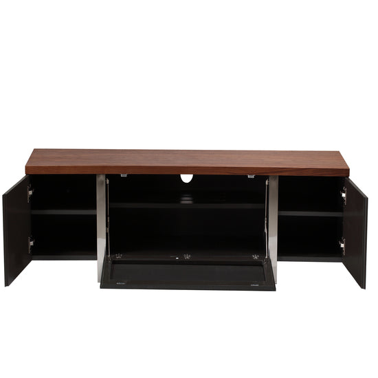 Wooden Material Combined With Steel Structure TV Unit