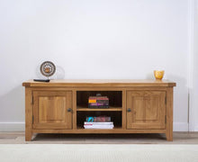 Wyatt 150cm Oak TV Unit With Two Shelves-1