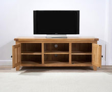 Wyatt 150cm Oak TV Unit With Two Shelves-2