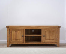 Wyatt 150cm Oak TV Unit With Two Shelves-3