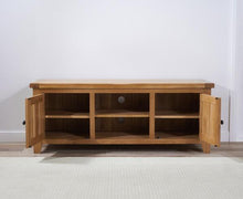 Wyatt 150cm Oak TV Unit With Two Shelves-4