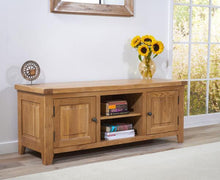 Wyatt 150cm Oak TV Unit With Two Shelves-6