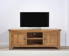 Wyatt 150cm Oak TV Unit With Two Shelves-7