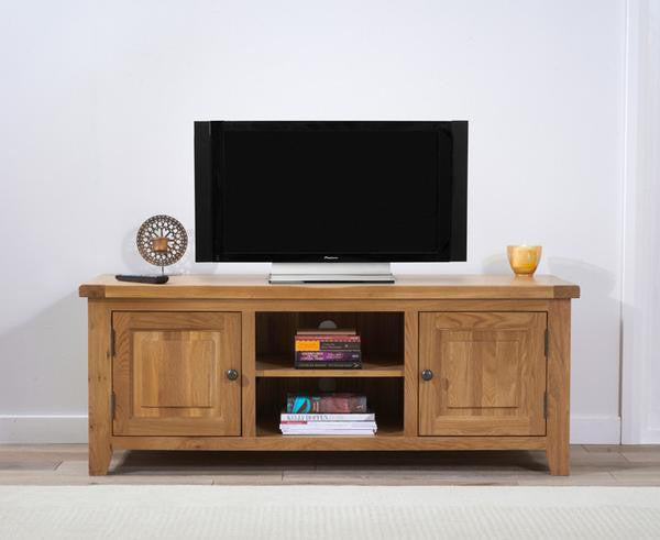 Wyatt 150cm Oak TV Unit With Two Shelves