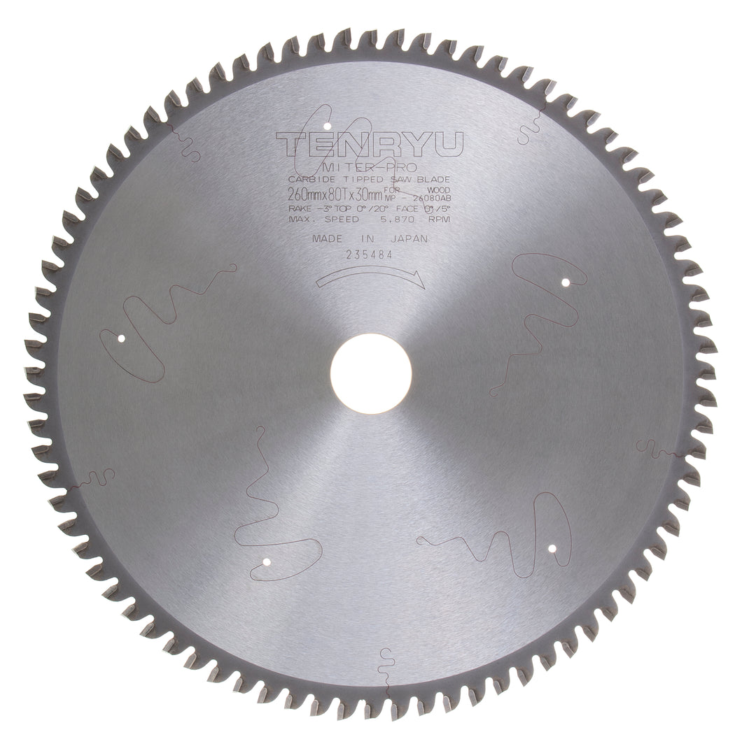 Tenryu MP-26080AB Miter Pro Plus 260mm X 80T Blade for Kapex Miter Saw