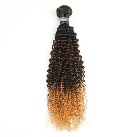 Brazilian Hair REMY 100% Natural Hair OMBRE T2 Kinky Curly