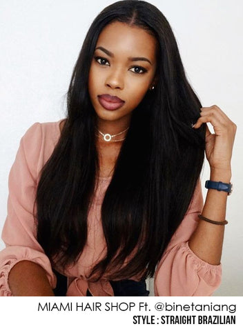 Layered Cut 3 Sizes Hair Weave Brazilian Remy Straight 100 Natural