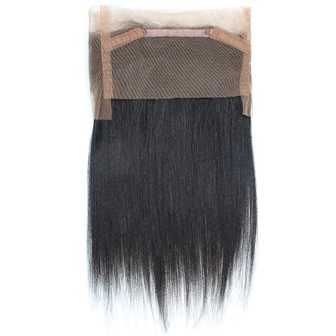 360° Lace Closure Brazilian 100% REMY Hair Straight