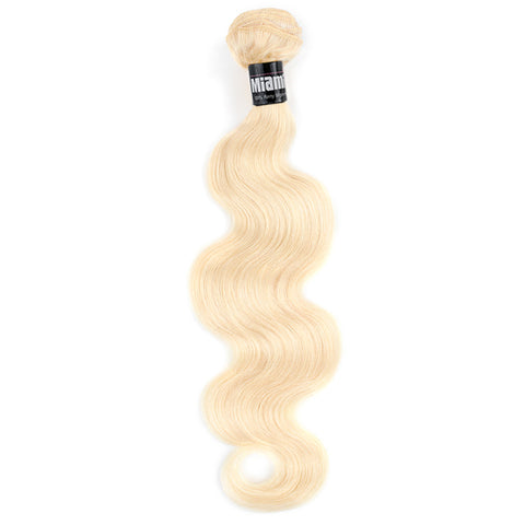 Platinum Blond Brazilian Hair REMY 100% Natural Hair Weave Body Wave